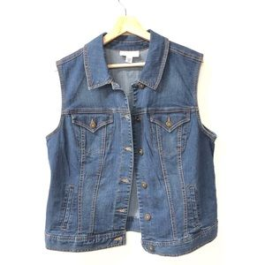 Style & Co. denim large jean vest jacket